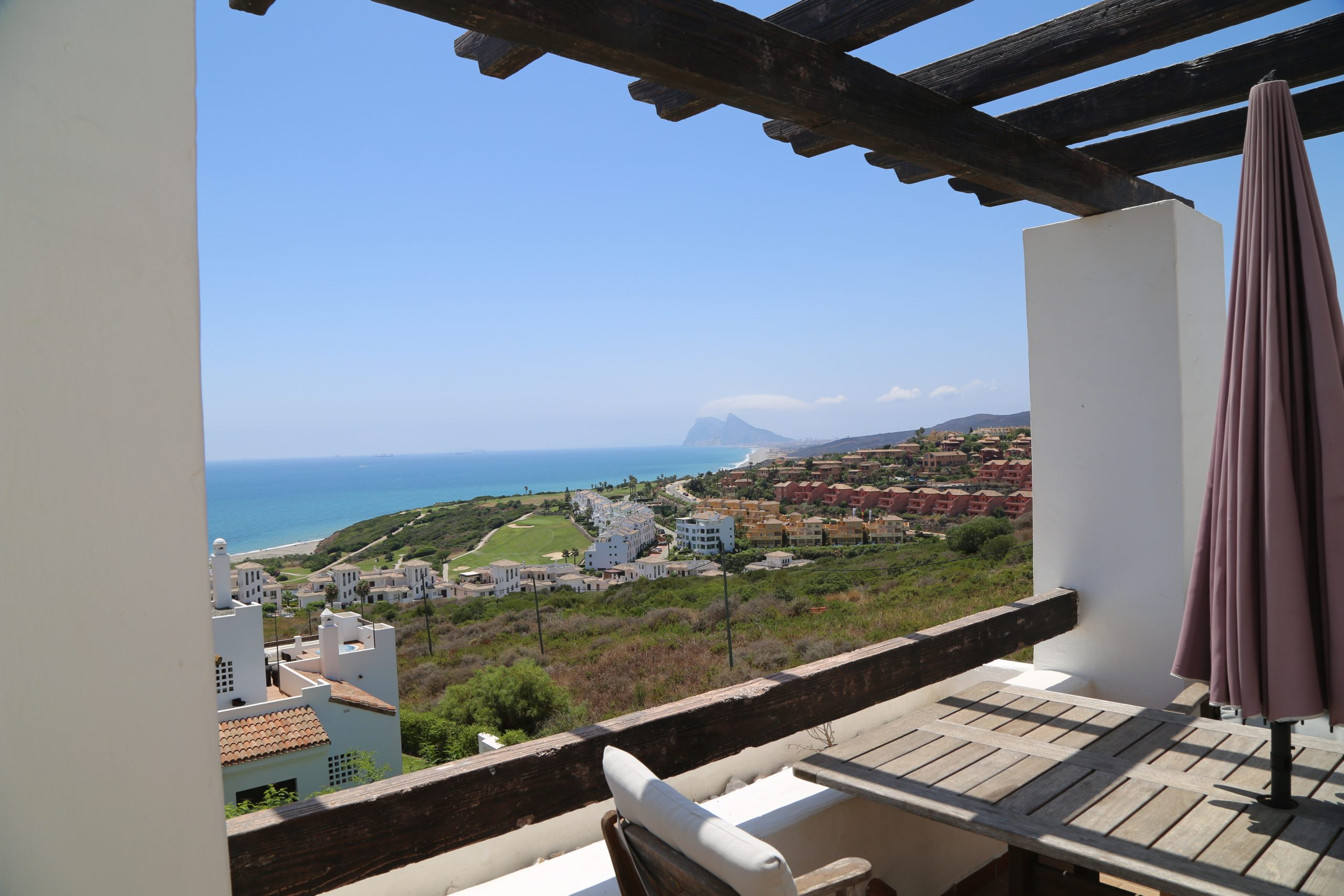 3 bedroom penthouse with amazing views over the sea and Gibraltar